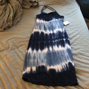 Women's fashion nova tie dye cross back dress